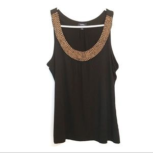 Reitmans camisole with wood details on neck sizeLP
